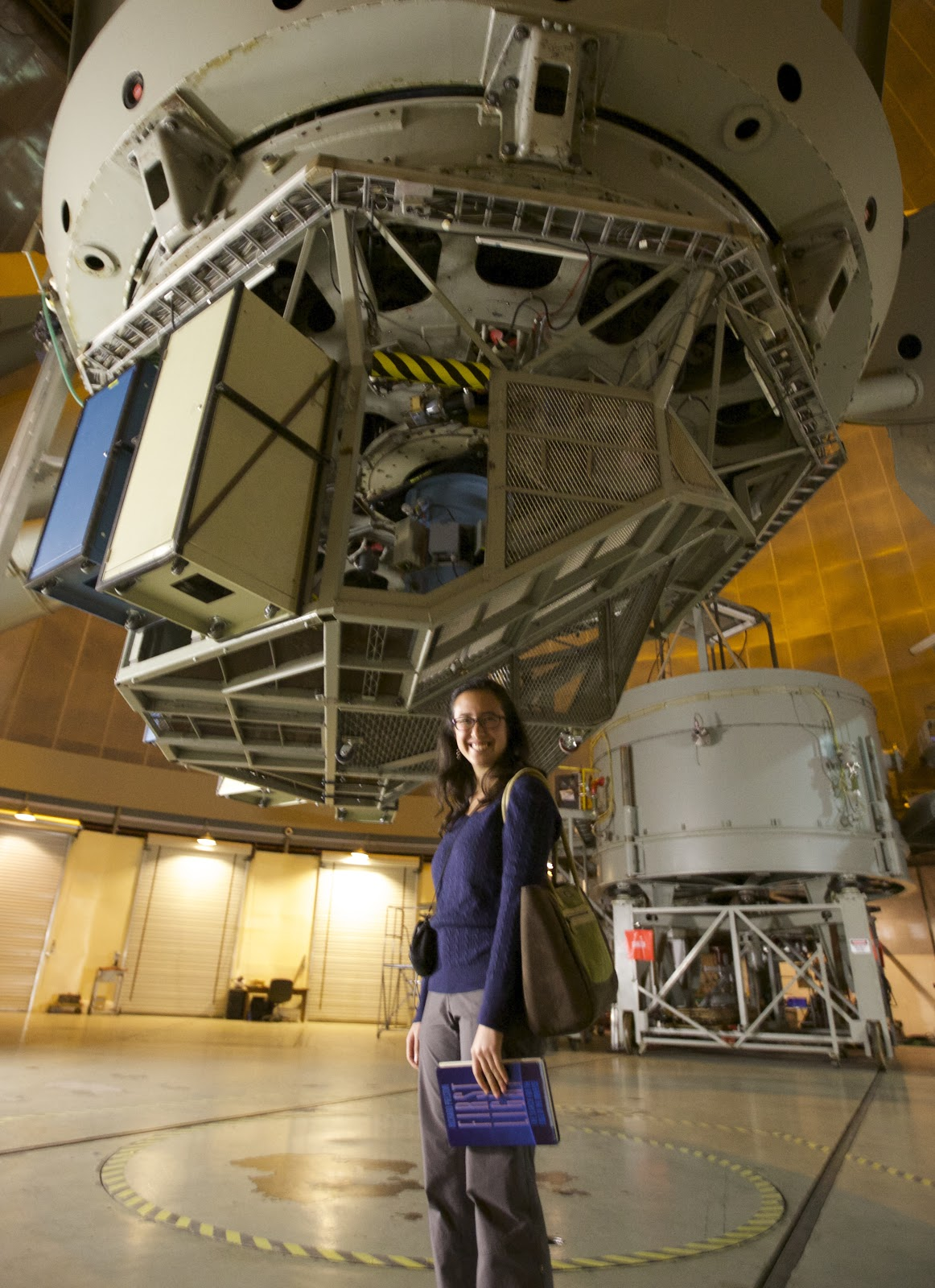 Anna with the 200-inch Hale Telescope at Palomar Observatory!
