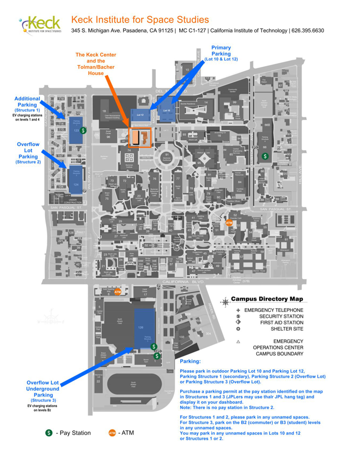 Cal Tech Campus Map.Maps Directions Keck Institute For Space Studies