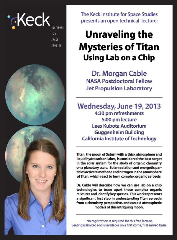 Unraveling the Mysteries of Titan Using Lab on a Chip