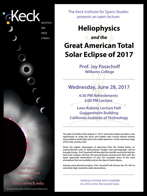 Heliophysics and the Great American Total Solar Eclipse of 2017