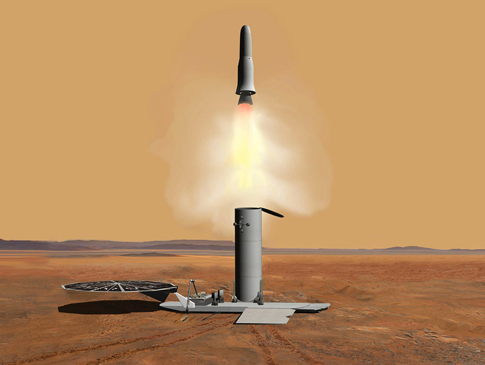 Hybrid Rocket Propulsion for a Low Temperature Mars  Ascent Vehicle