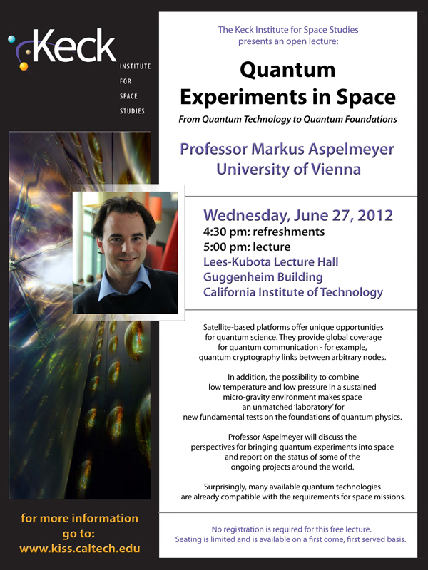 Quantum Experiments in Space
